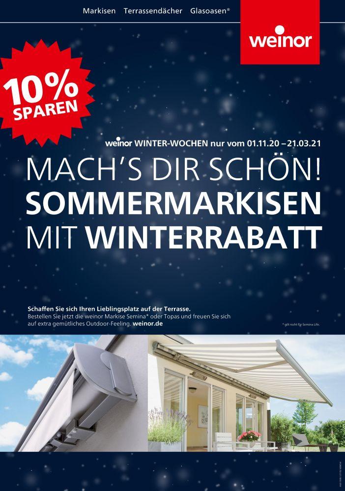 Sommermarkisen Winterrabbat 2