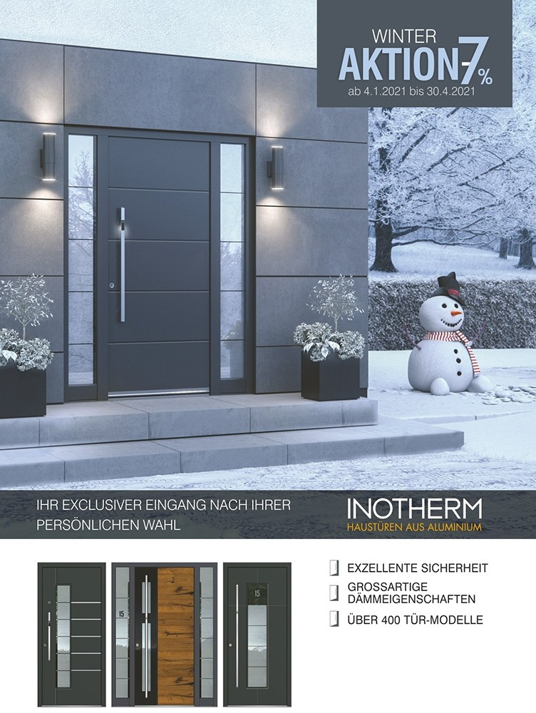 INOTHERM Winter Aktion 2021 Haustüren